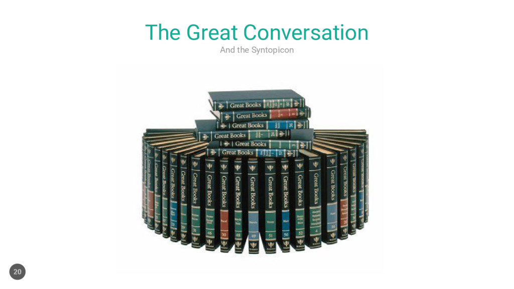 And the Syntopicon The Great Conversation 20