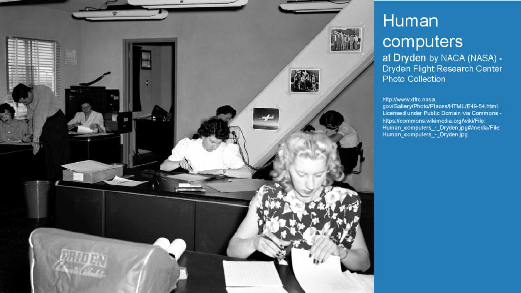 Human computers at Dryden by NACA (NASA) - Dryd...