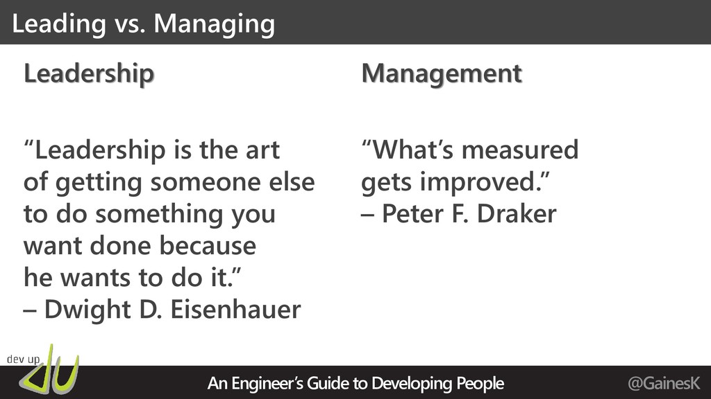 An Engineer's Guide to Developing People @Gaine...