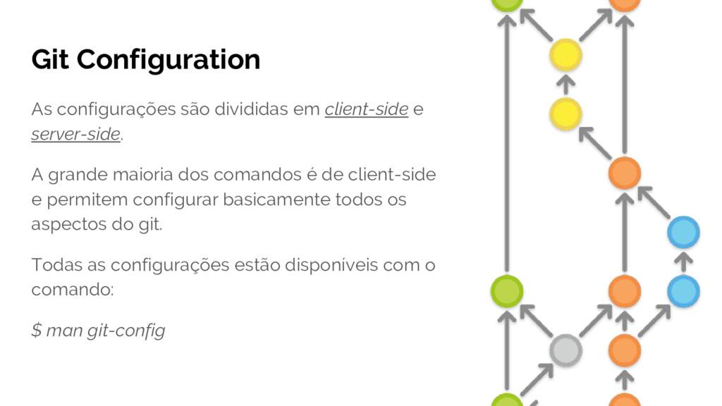 Git Configuration As configurações são dividida...
