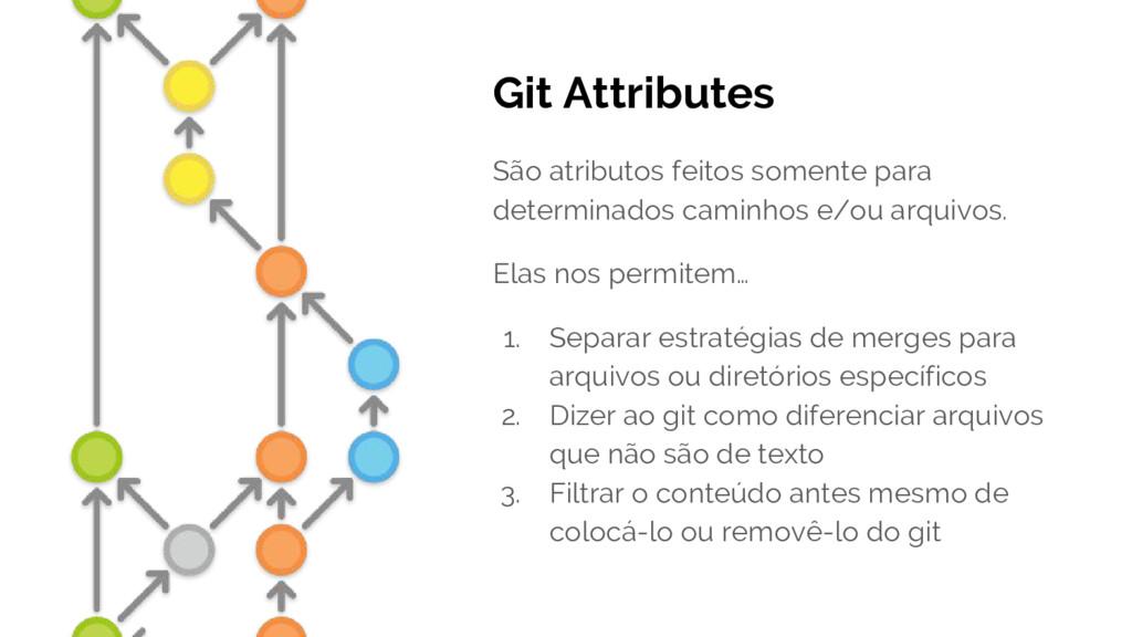 Git Attributes São atributos feitos somente par...