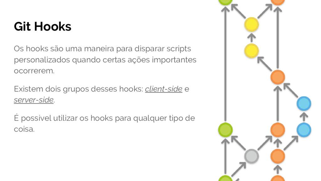Git Hooks Os hooks são uma maneira para dispara...