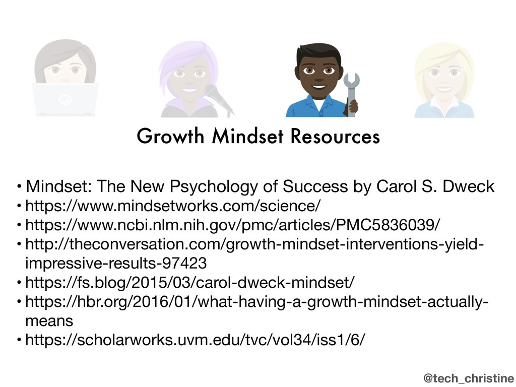 @tech_christine Growth Mindset Resources • Mind...