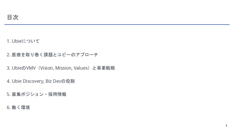 3 We're hiring!! Ubie の Ubie Discovery, Biz Dev...