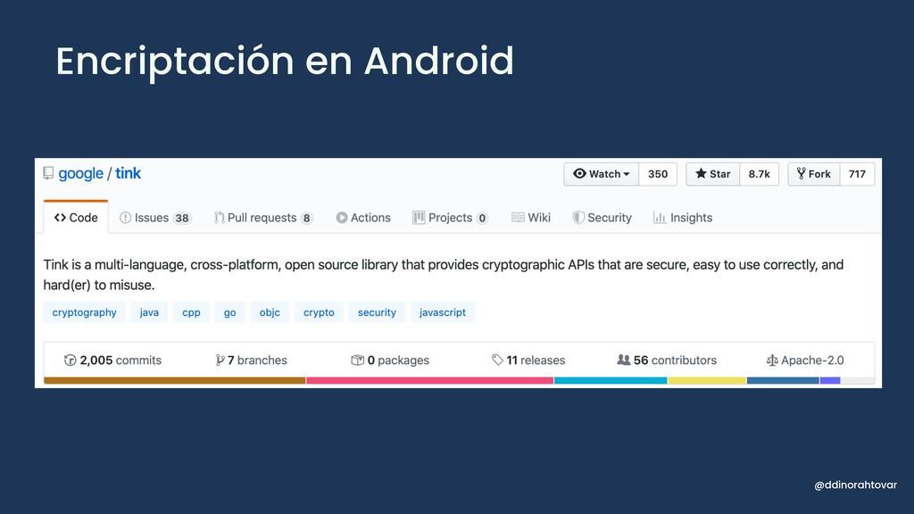 Encriptación en Android @ddinorahtovar