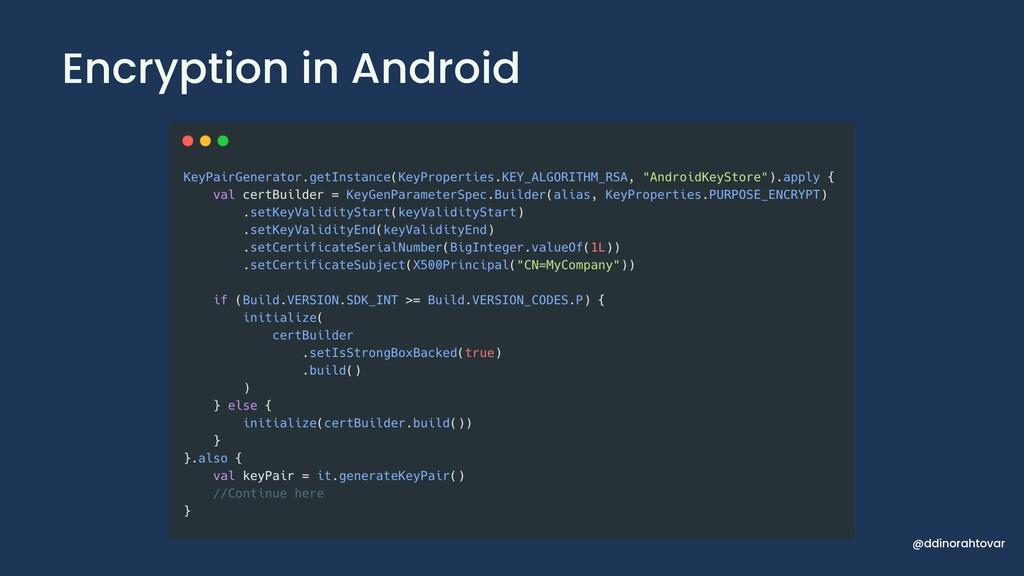 Encryption in Android @ddinorahtovar