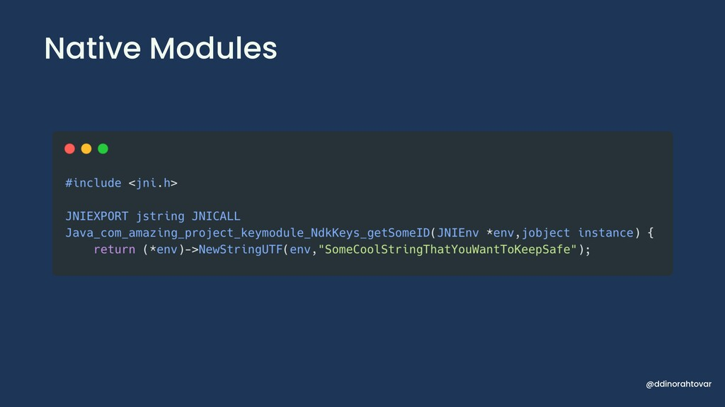 Native Modules @ddinorahtovar