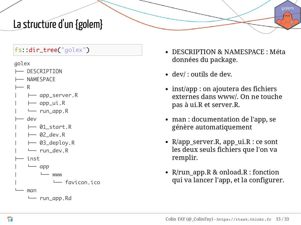 "fs::dir_tree(""golex"") golex ├── DESCRIPTION ├──..."