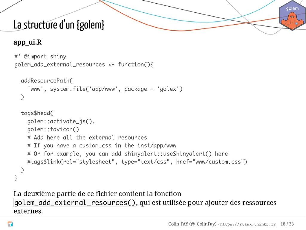 La structure d'un {golem} app_ui.R #' @import s...