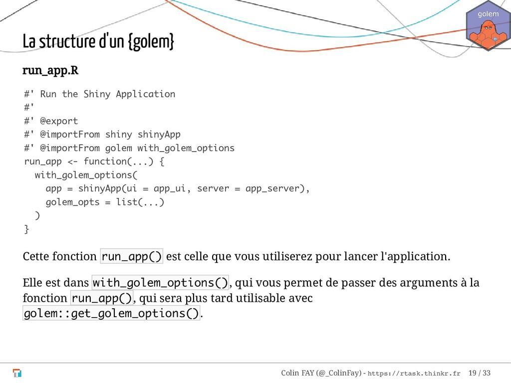 La structure d'un {golem} run_app.R #' Run the ...