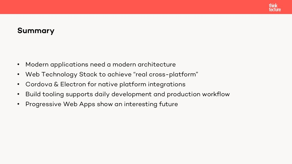 • Modern applications need a modern architectur...