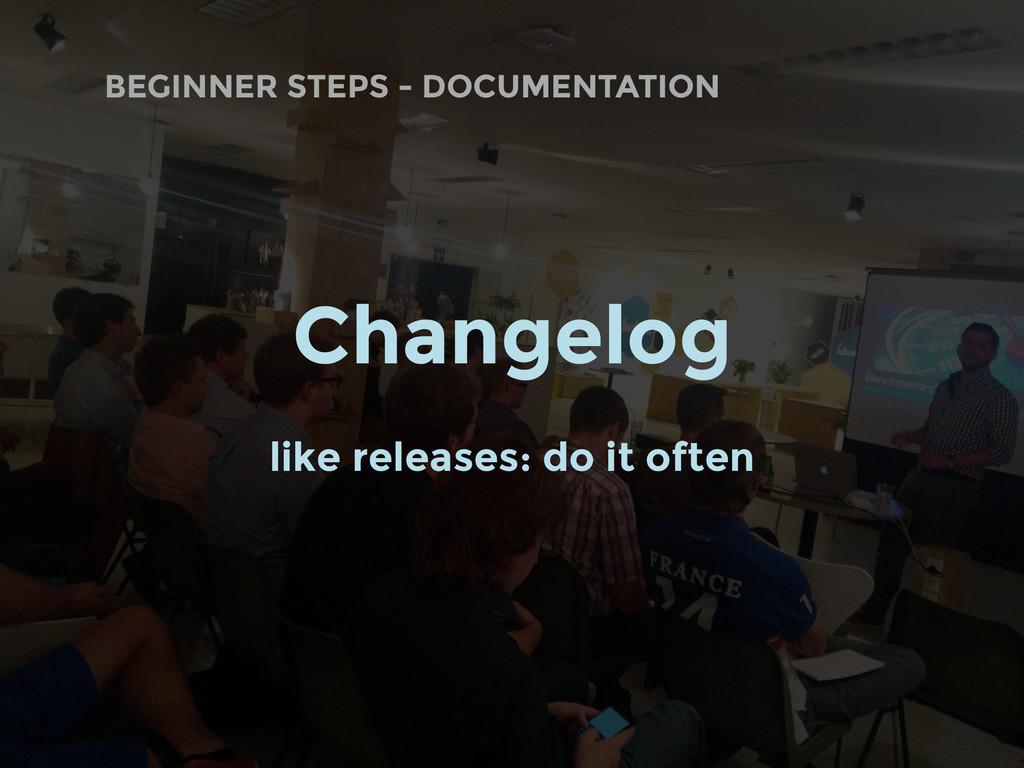 BEGINNER STEPS - DOCUMENTATION Changelog like r...