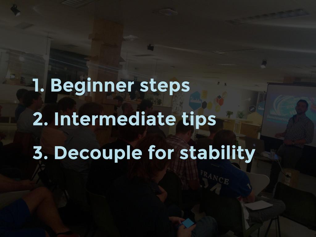 1. Beginner steps 2. Intermediate tips 3. Decou...