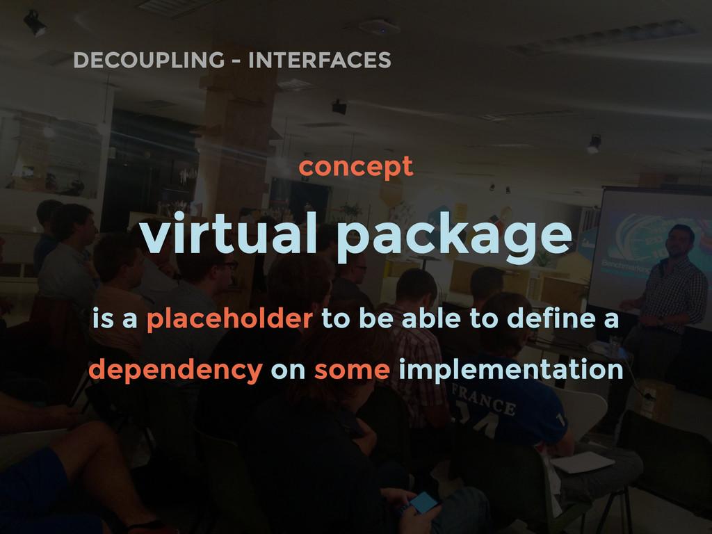 DECOUPLING - INTERFACES concept virtual package...
