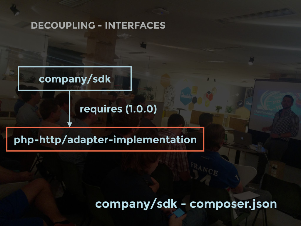 DECOUPLING - INTERFACES company/sdk requires (1...