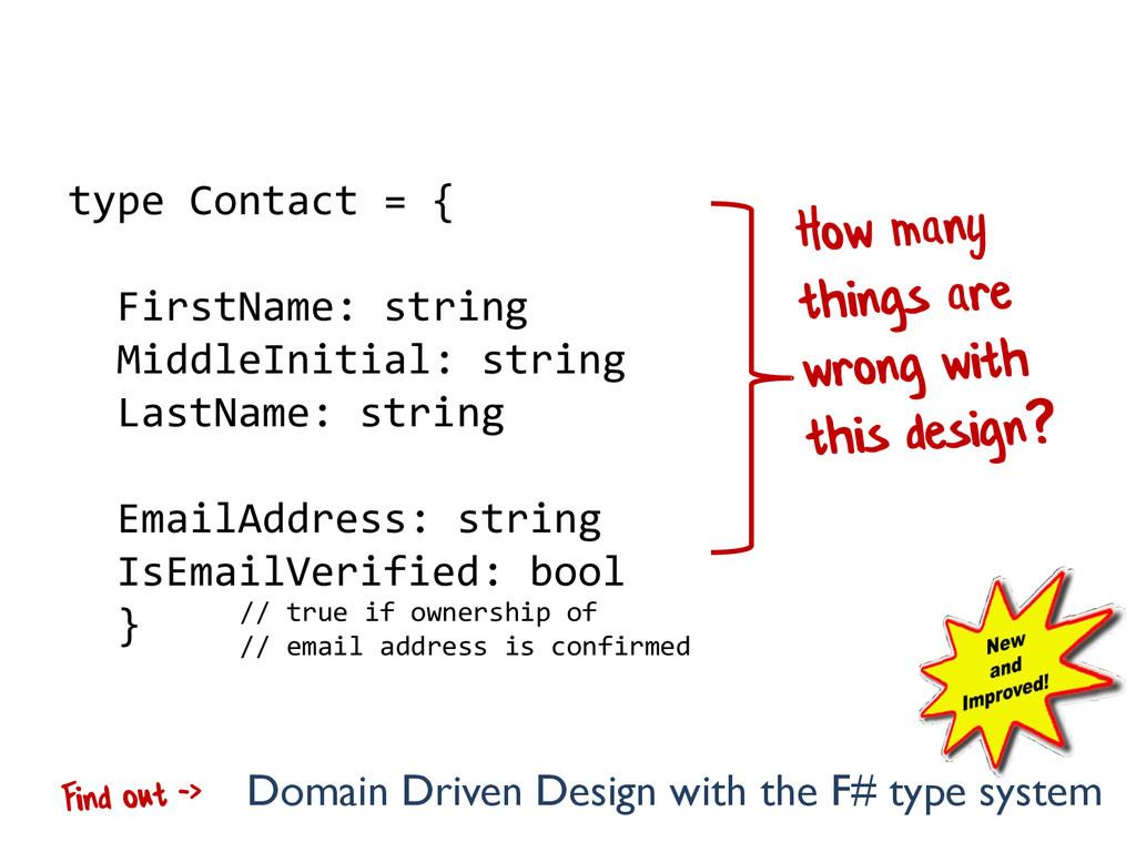 type Contact = { FirstName: string MiddleInitia...
