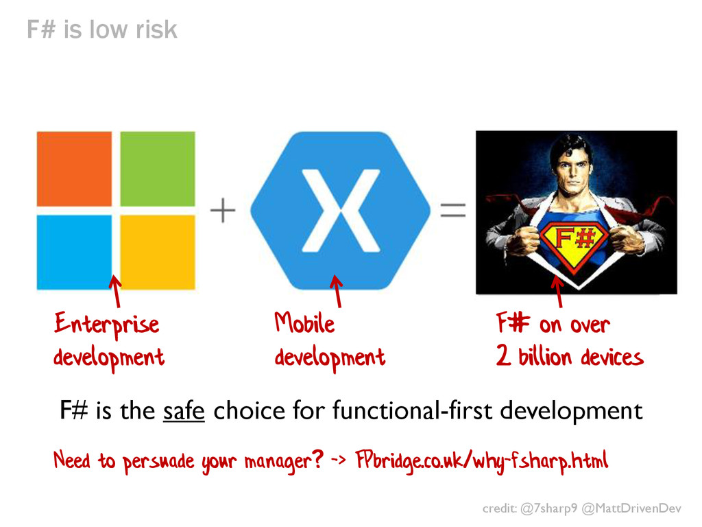 F# is low risk F# is the safe choice for functi...