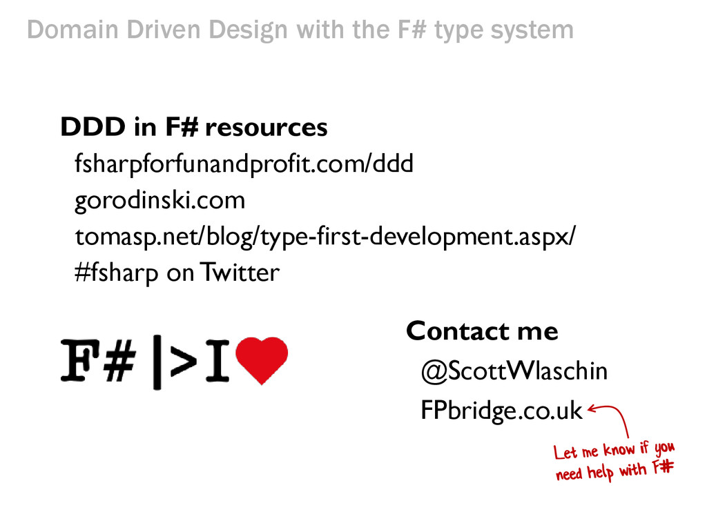 Domain Driven Design with the F# type system DD...