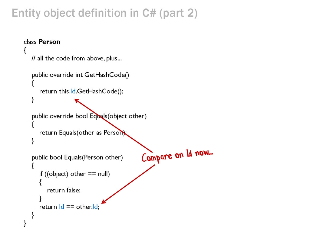 class Person { // all the code from above, plus...