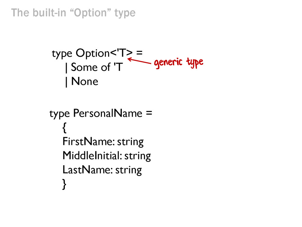 """The built-in """"Option"""" type type PersonalName = ..."""
