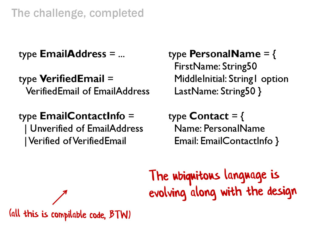 type EmailAddress = ... type VerifiedEmail = Ve...