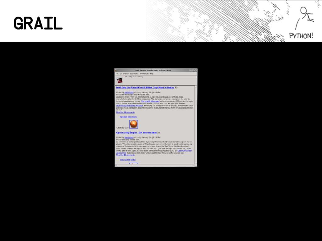 Grail La web, en 1995, en Python. Python en el ...