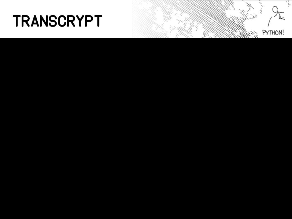 Transcrypt • Implementa Python 3 • Hecho en Pyt...