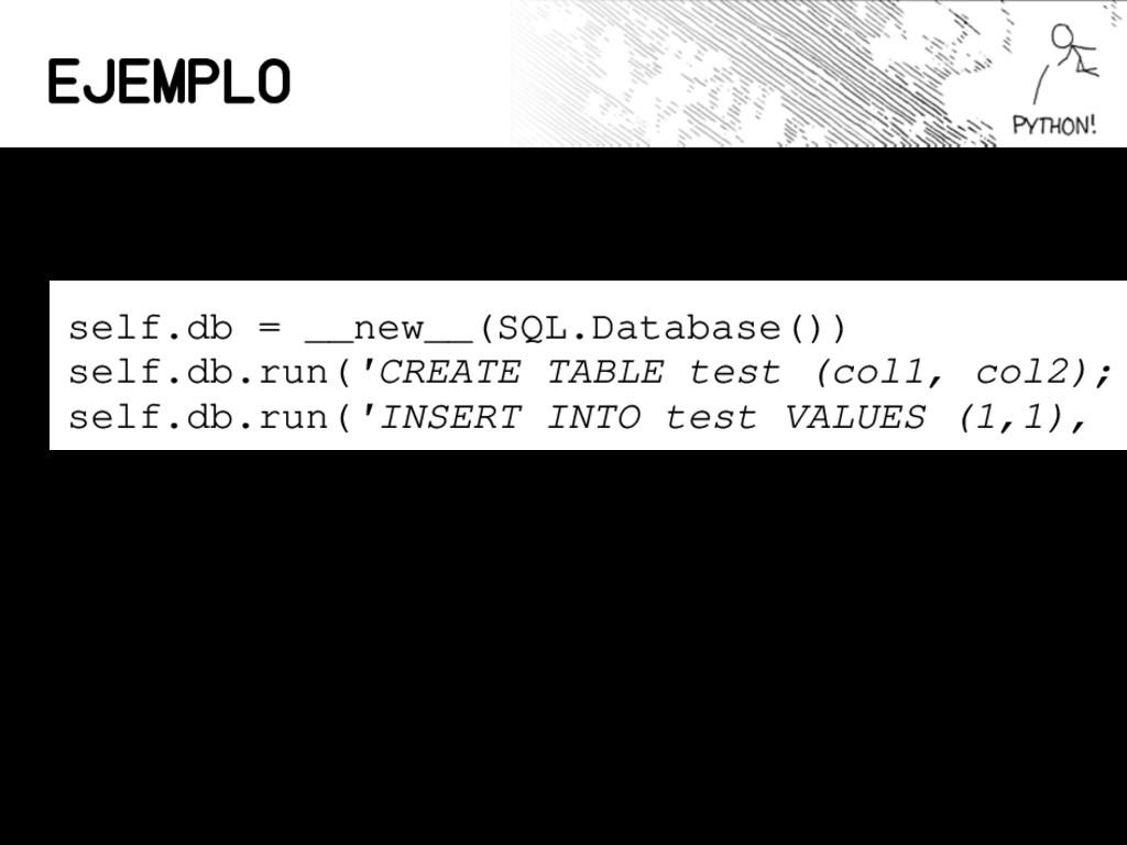 Ejemplo Usando SQLite desde Python en un browse...