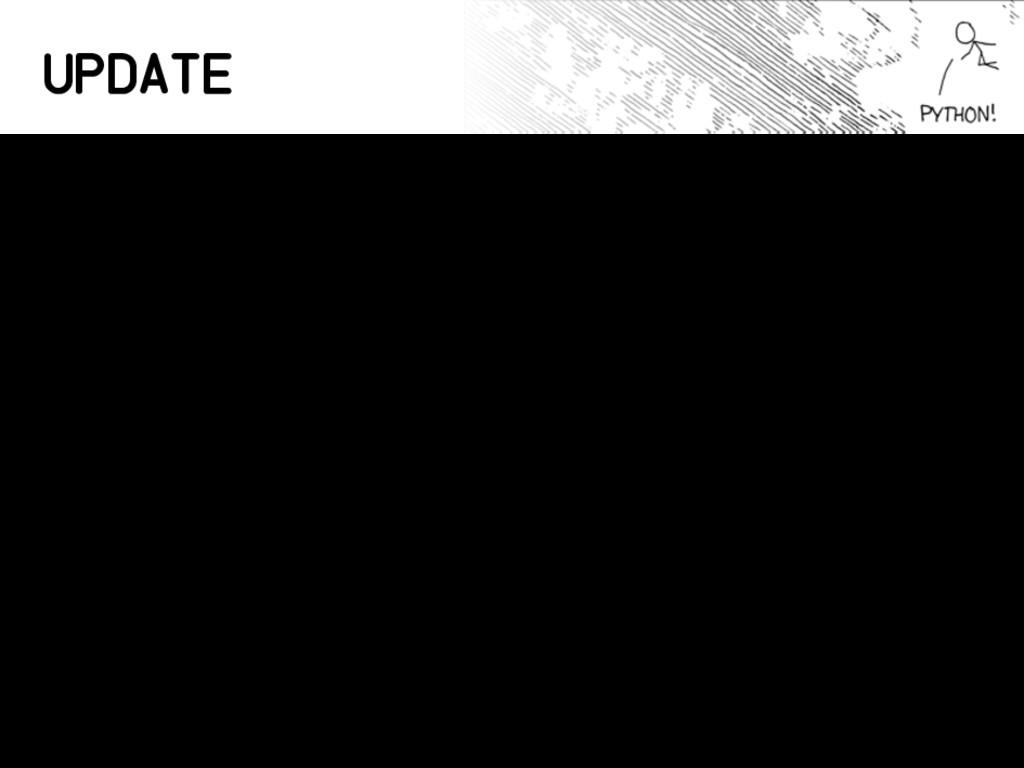 Update • Cambio de título • Python en el browse...