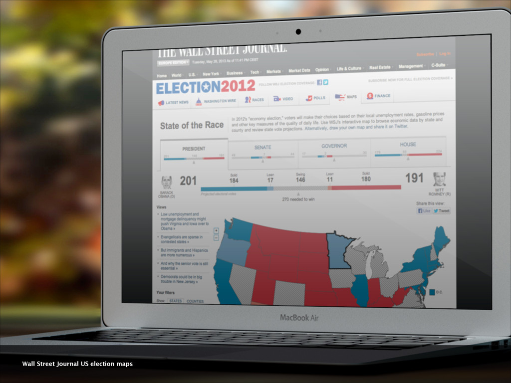 Wall Street Journal US election maps