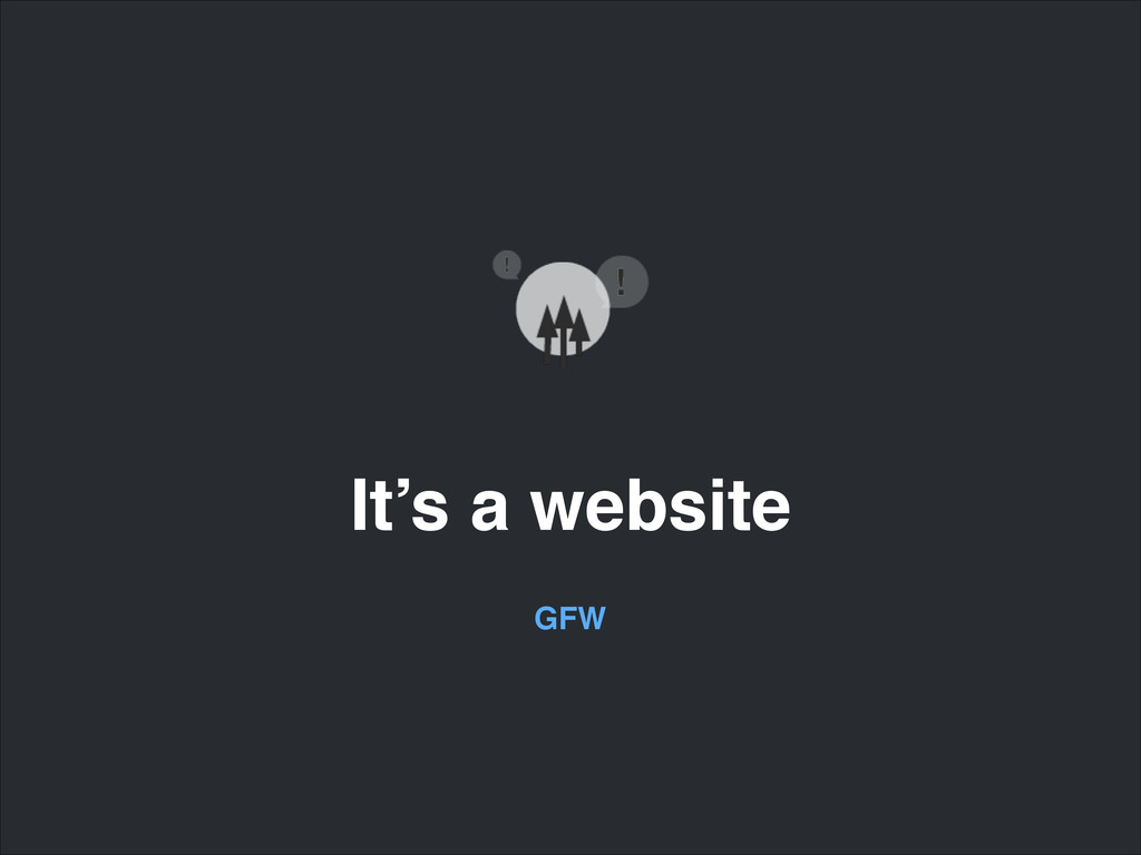 It's a website GFW