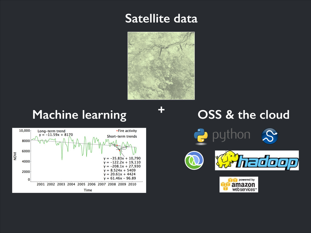 OSS & the cloud Machine learning + Satellite da...