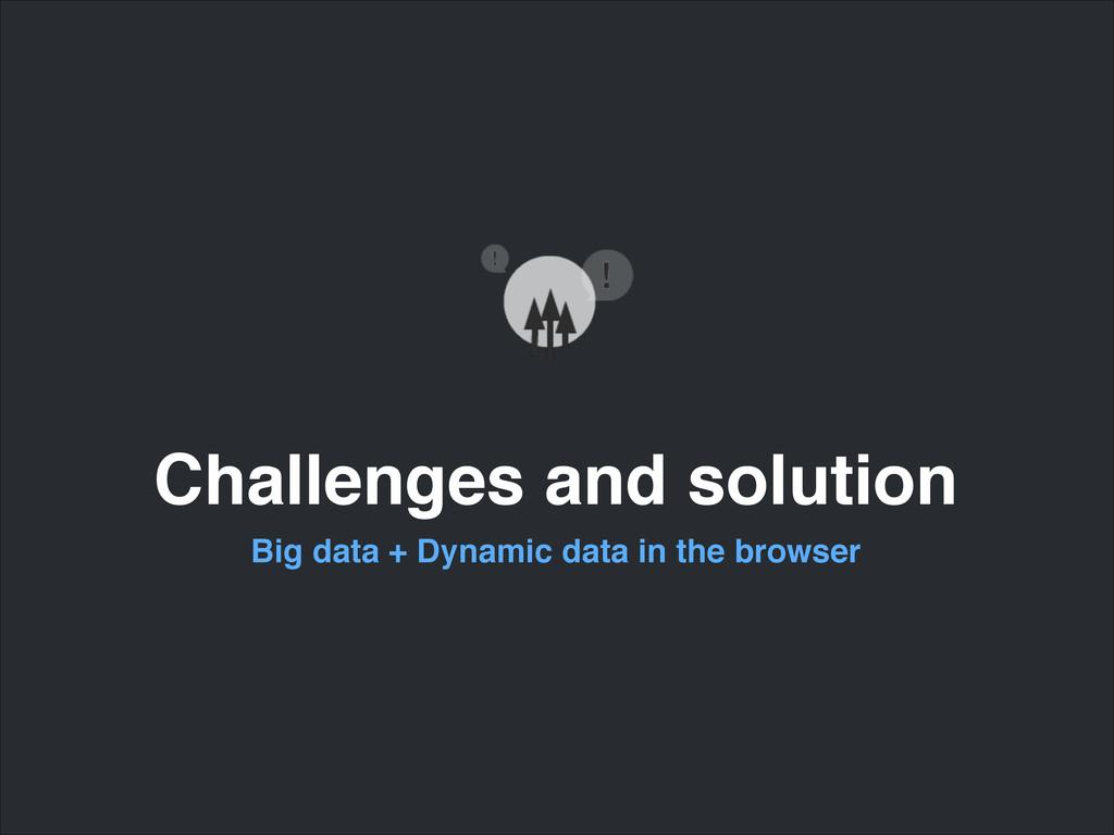 Challenges and solution Big data + Dynamic data...