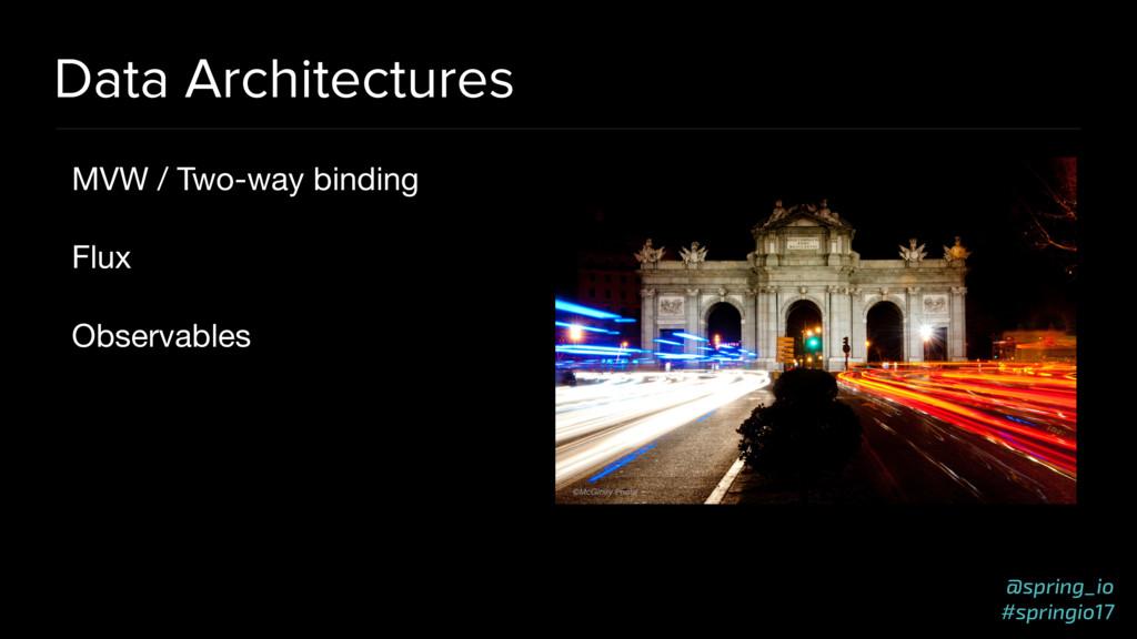 @spring_io #springio17 Data Architectures MVW /...