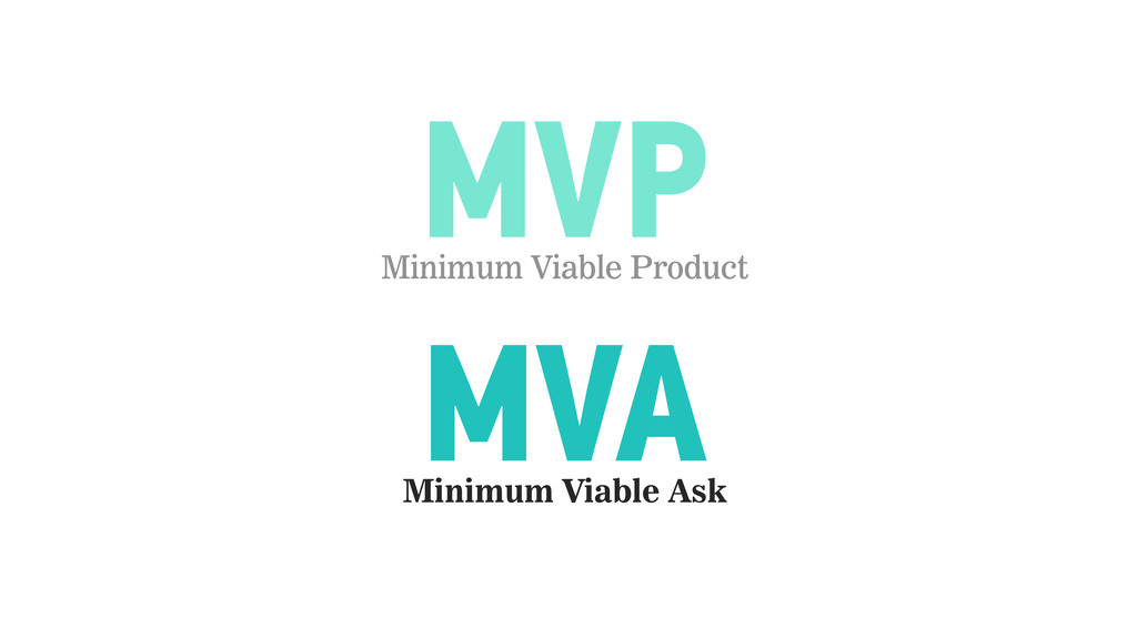 MVP MVA Minimum Viable Ask Minimum Viable Produ...
