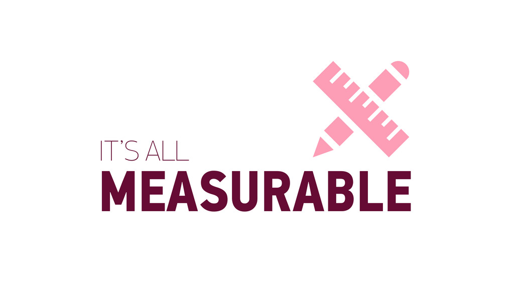 IT'S ALL MEASURABLE 