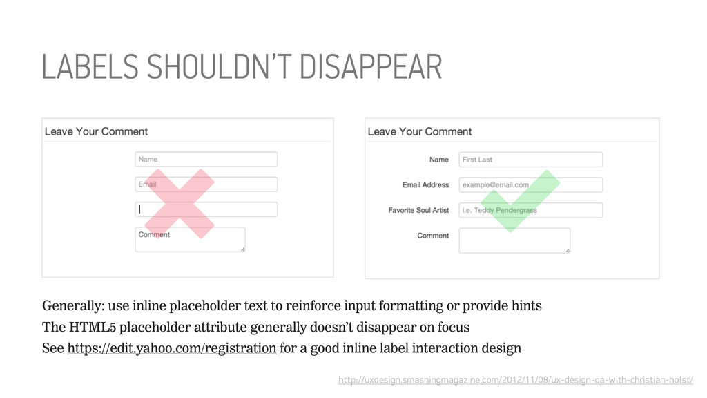 LABELS SHOULDN'T DISAPPEAR http://uxdesign.smas...