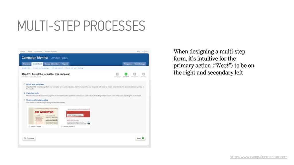 MULTI-STEP PROCESSES http://www.campaignmonitor...