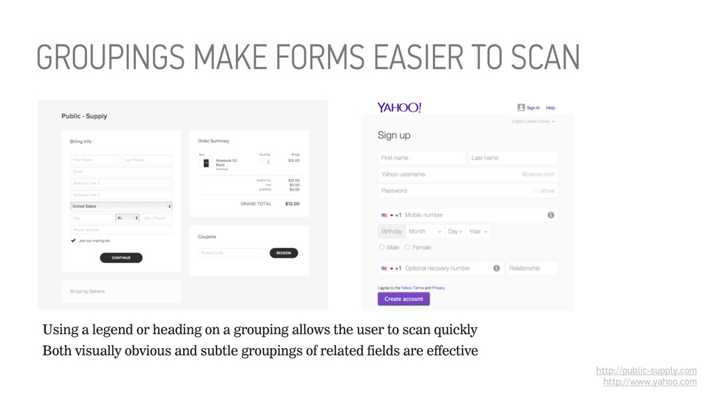 GROUPINGS MAKE FORMS EASIER TO SCAN http://publ...