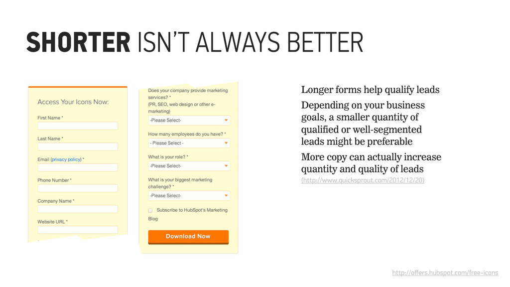SHORTER ISN'T ALWAYS BETTER http://offers.hubspo...