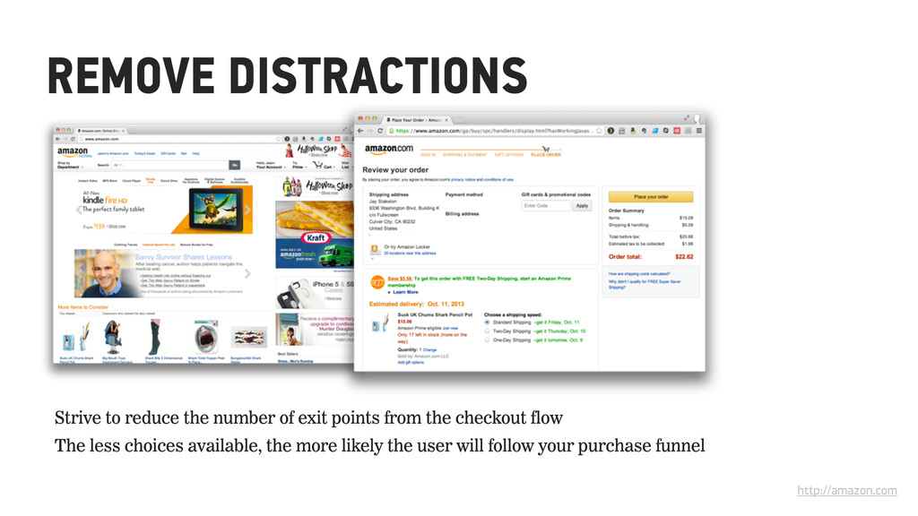 REMOVE DISTRACTIONS http://amazon.com Strive to...