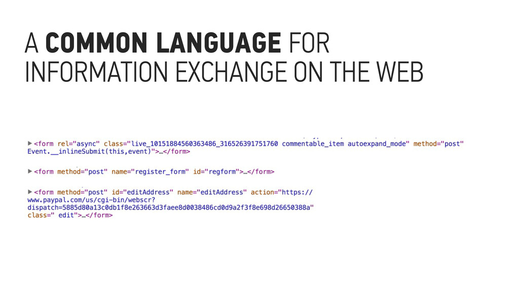 A COMMON LANGUAGE FOR INFORMATION EXCHANGE ON T...