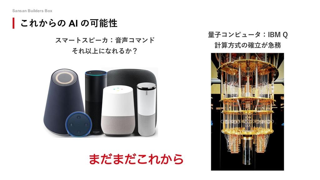 Sansan Builders Box スマートスピーカ:⾳声コマンド それ以上になれるか? ...