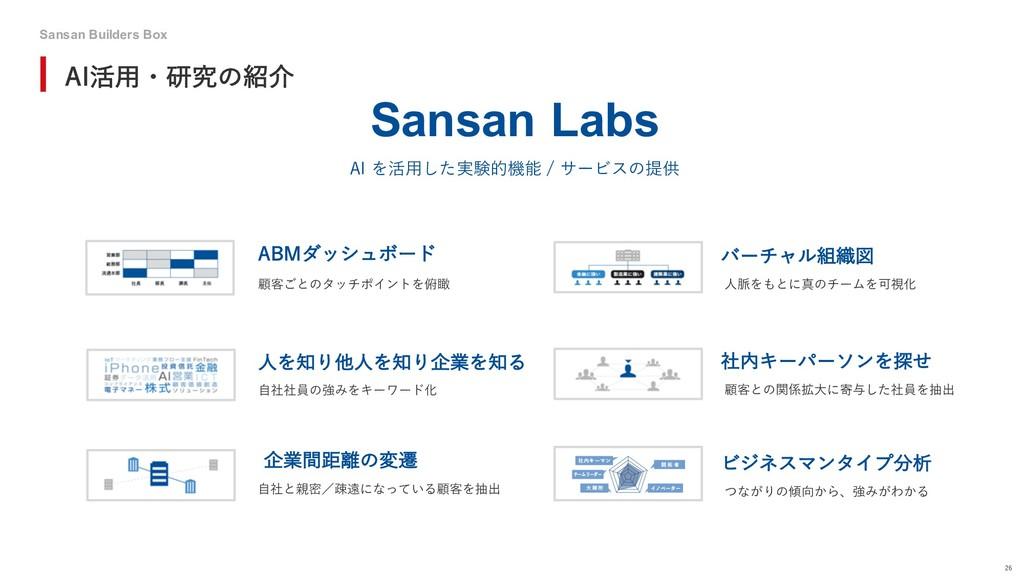 "Sansan Builders Box 26 ""*׆༻ɾݚڀͷհ Sansan Labs A..."