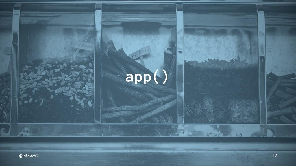 app() @introwit 10