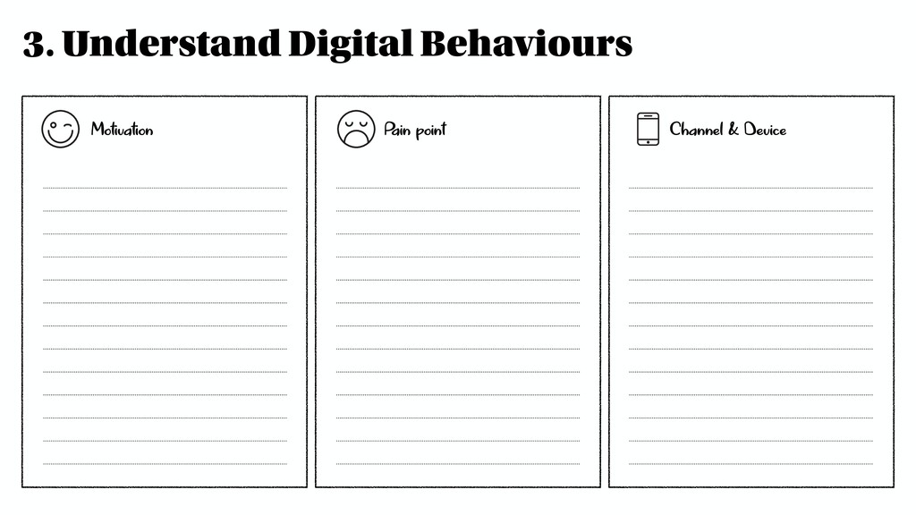 3. Understand Digital Behaviours Motivation Pai...