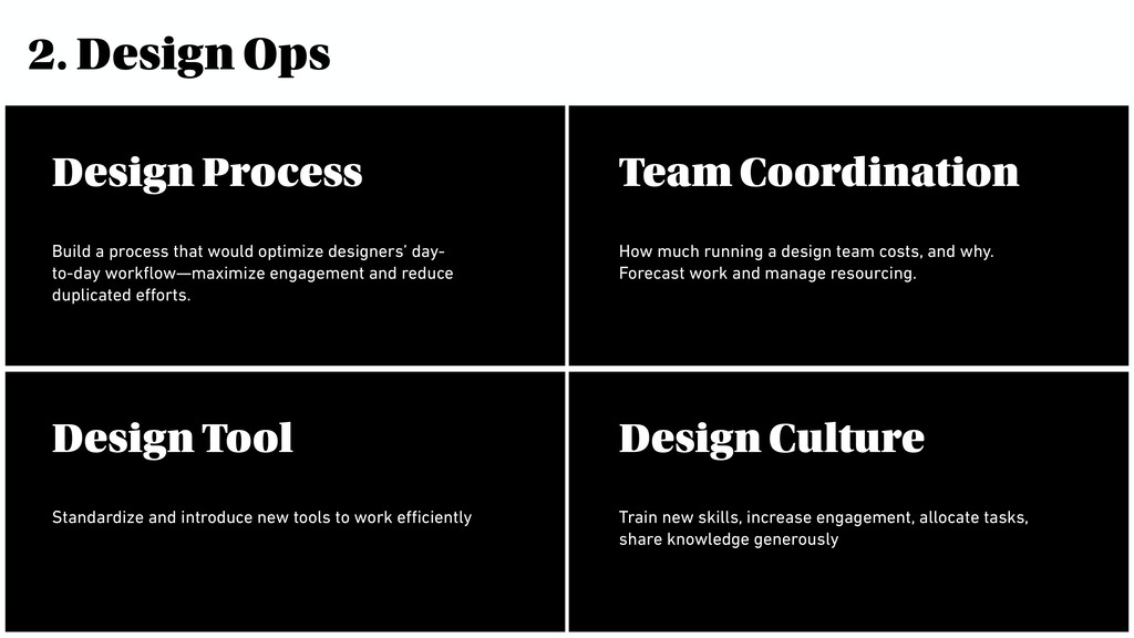 2. Design Ops Build a process that would optimi...