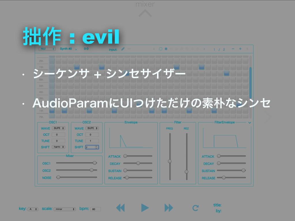 "࡞ : evil w γʔέϯαγϯηαΠβʔ w ""VEJP1BSBNʹ6*͚ͭͨ..."