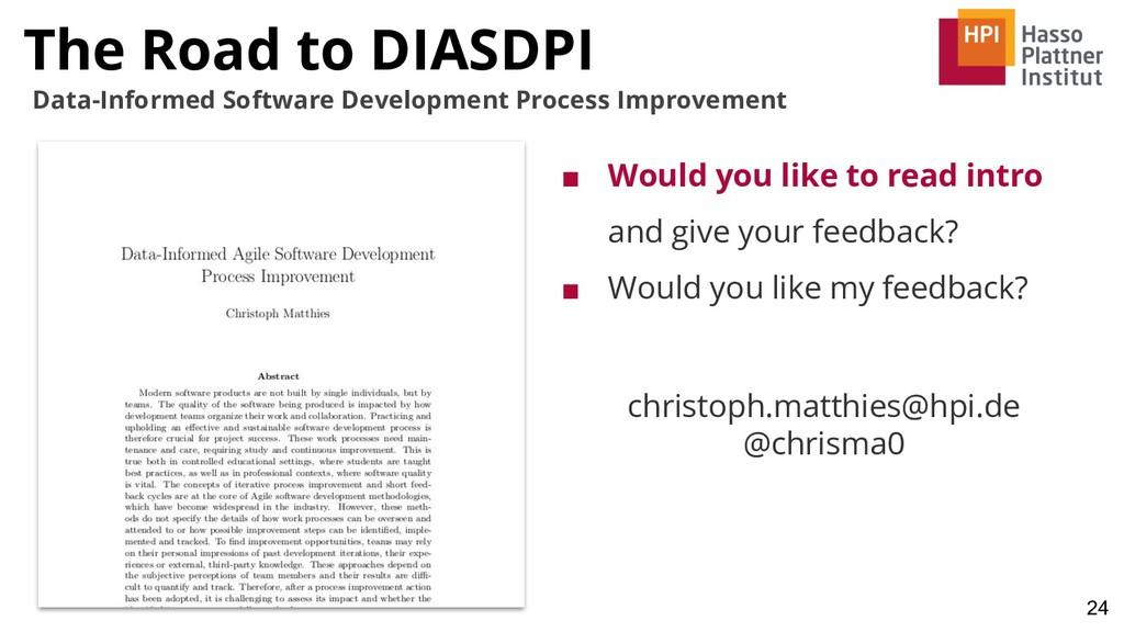 24 Data-Informed Software Development Process I...