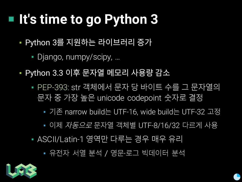 It's time to go Python 3 ▪ Python 3읊 힎풞쁢 않핂쯚얺읺...